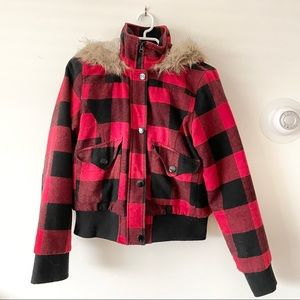 Warm Plaid Jacket